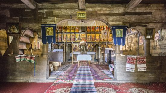 Gothic wooden church in Danilovo, Zakarpattia region, Ukraine, photo 6