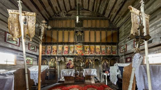 Gothic wooden church in Danilovo, Zakarpattia region, Ukraine, photo 7