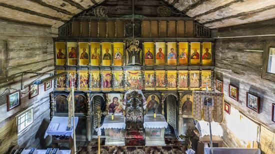 Gothic wooden church in Danilovo, Zakarpattia region, Ukraine, photo 9