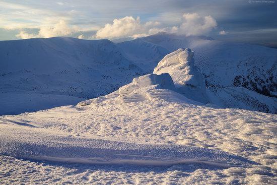 Snowy winter, Mount Pip Ivan, the Carpathians, Ukraine, photo 17