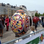 Easter eggs exhibition at Sophia Square in Kyiv