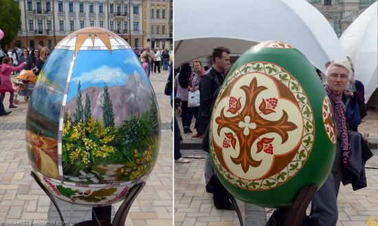 Easter eggs exhibition, Sophia Square, Kyiv, Ukraine, photo 2