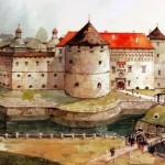 Castles of Ukraine in the Polish artist's watercolors