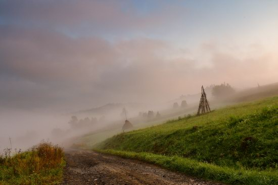 One misty autumn morning in the Carpathians, Ukraine, photo 5