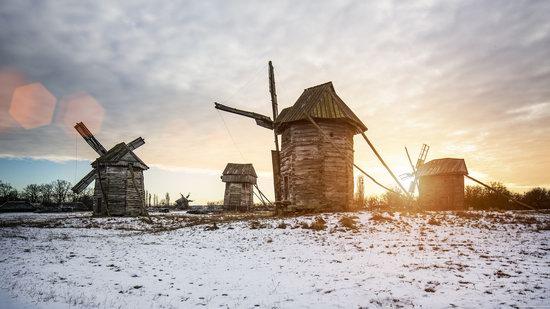 Windmills, Pyrohiv museum, Kyiv, Ukraine, photo 1