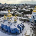 Winter in St. Michael's Golden-Domed Monastery