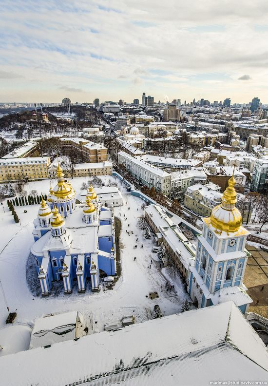 Winter in St. Michael Golden-Domed Monastery, Kyiv, Ukraine, photo 3