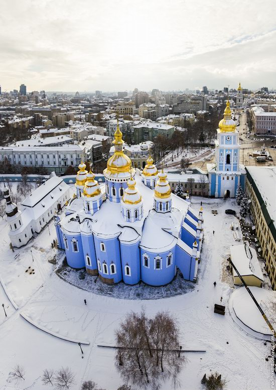 Winter in St. Michael Golden-Domed Monastery, Kyiv, Ukraine, photo 4