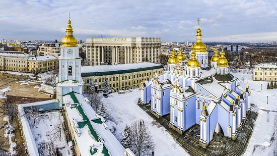 Winter in St. Michael Golden-Domed Monastery, Kyiv, Ukraine, photo 7