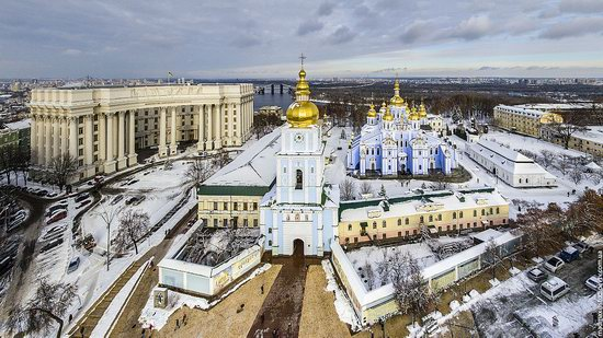 Winter in St. Michael Golden-Domed Monastery, Kyiv, Ukraine, photo 8