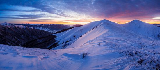 Winter on Pishkonya Range, Zakarpattia region, Ukraine, photo 12