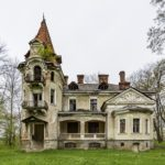 Picturesque abandoned villa in Nyzhankovychi