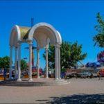 The resort city of Berdyansk in early summer