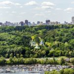 Center of Kyiv – the view from above