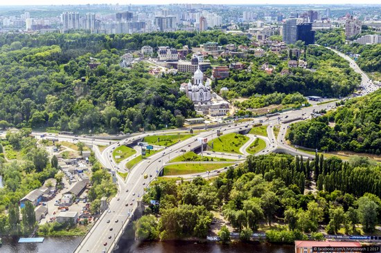 Center of Kyiv, Ukraine - the view from above, photo 2