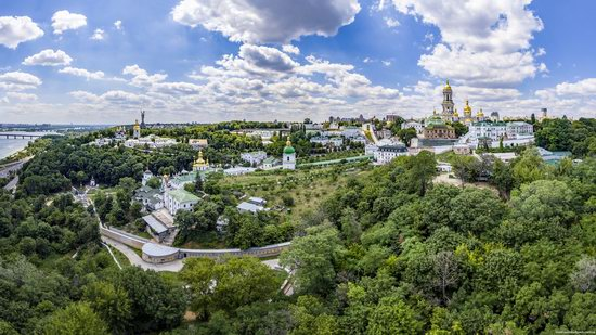 Kyiv Pechersk Lavra, Ukraine from above, photo 1