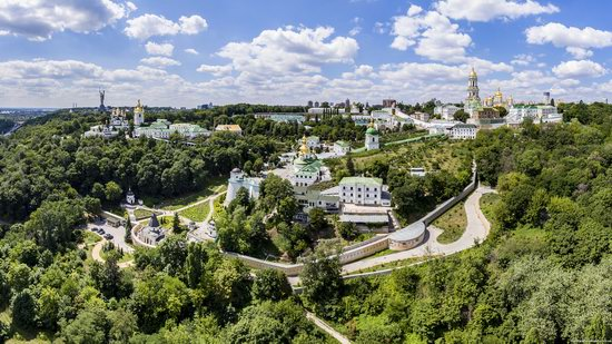 Kyiv Pechersk Lavra, Ukraine from above, photo 11