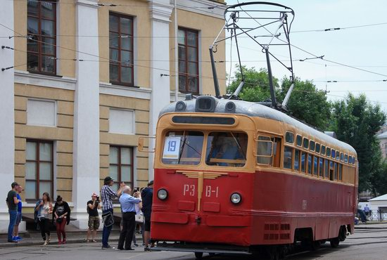 Parade of Trams in Kyiv, Ukraine, photo 1