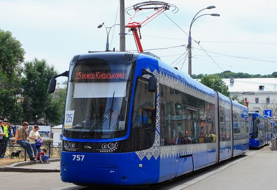 Parade of Trams in Kyiv, Ukraine, photo 12