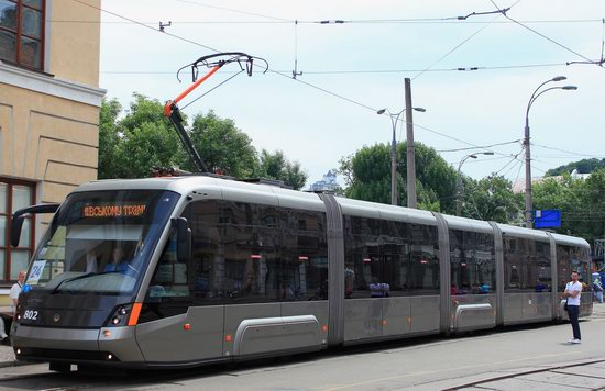Parade of Trams in Kyiv, Ukraine, photo 14
