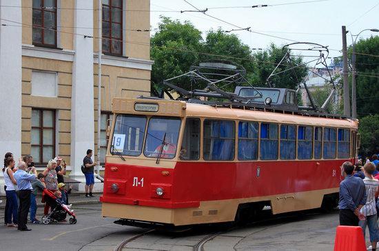 Parade of Trams in Kyiv, Ukraine, photo 16