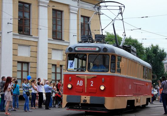 Parade of Trams in Kyiv, Ukraine, photo 17