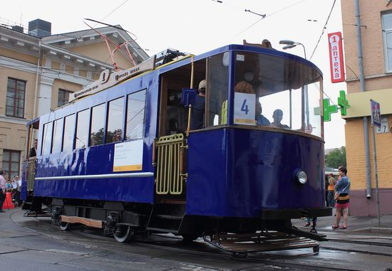 Parade of Trams in Kyiv, Ukraine, photo 2