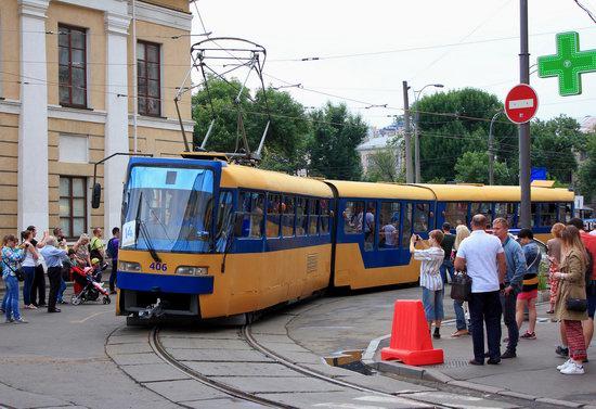 Parade of Trams in Kyiv, Ukraine, photo 7