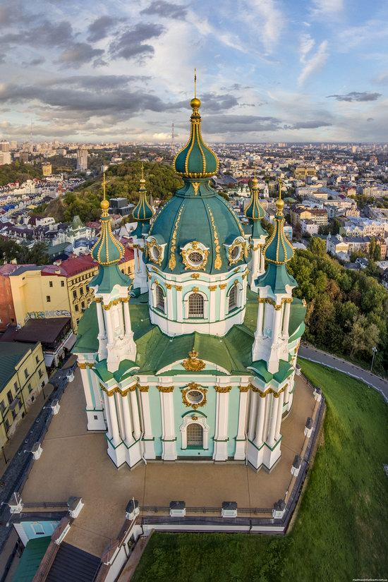 St. Andrew's Church in Kyiv, Ukraine - the view from above, photo 6