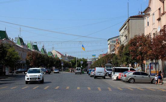 Walk through the center of Mukachevo, Ukraine, photo 17