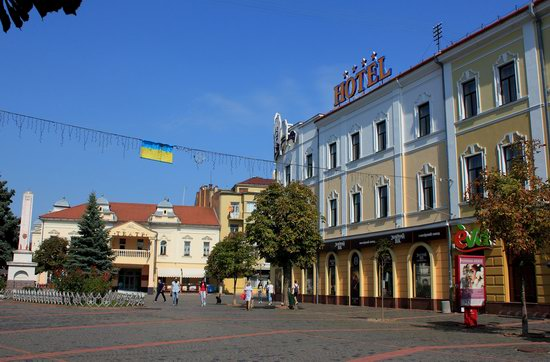 Walk through the center of Mukachevo, Ukraine, photo 19