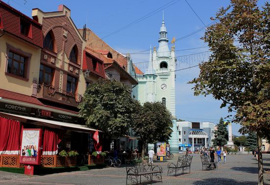 Walk through the center of Mukachevo, Ukraine, photo 4