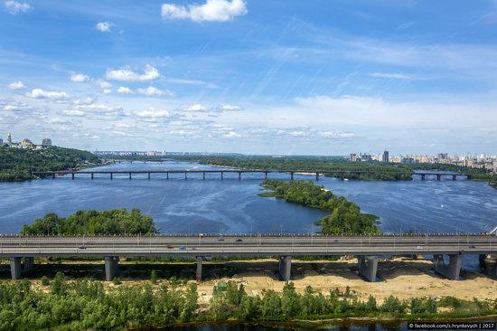 Bridges over the Dnieper River in Kyiv, Ukraine, photo 3