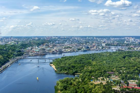 Bridges over the Dnieper River in Kyiv, Ukraine, photo 7