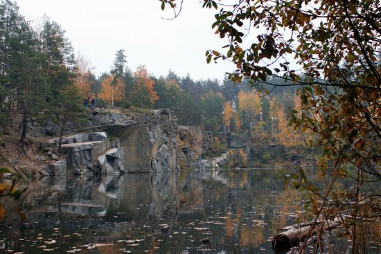Abandoned and Flooded Korostyshivsky Quarry, Ukraine, photo 1