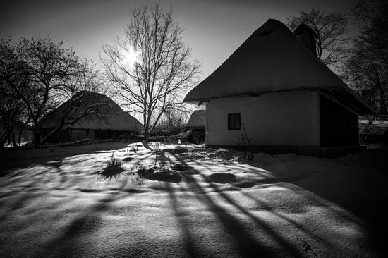 Snowy winter in the Pyrohiv Museum, Kyiv, Ukraine, photo 11