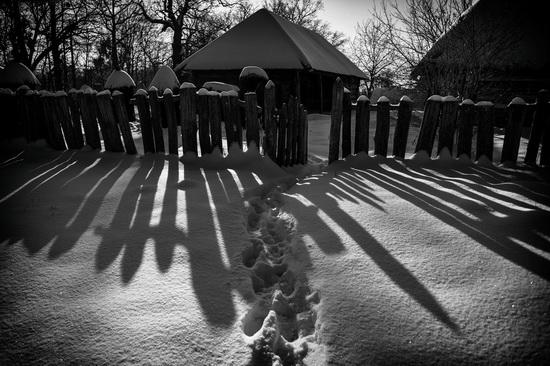 Snowy winter in the Pyrohiv Museum, Kyiv, Ukraine, photo 16