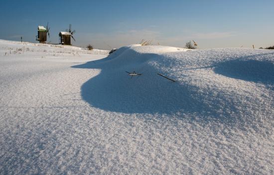 Snowy winter in the Pyrohiv Museum, Kyiv, Ukraine, photo 3