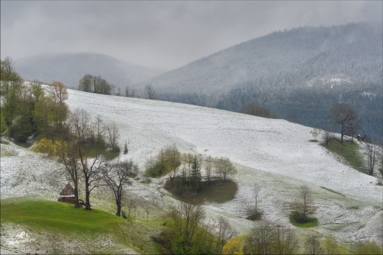 Unpredictable spring weather of the Carpathians, Ukraine, photo 2