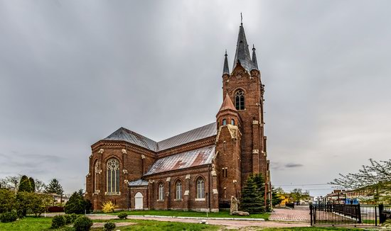 Neo-Gothic Catholic Church in Kamianka-Buzka, Ukraine, photo 1