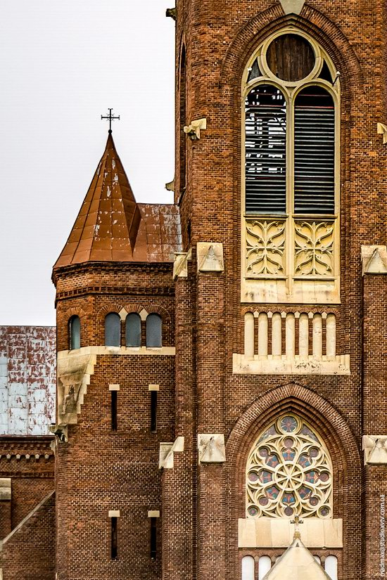 Neo-Gothic Catholic Church in Kamianka-Buzka, Ukraine, photo 3