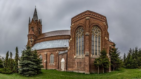 Neo-Gothic Catholic Church in Kamianka-Buzka, Ukraine, photo 5