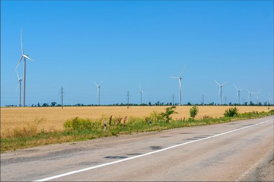 Wind Farm in Prymorsk in Southern Ukraine, photo 6