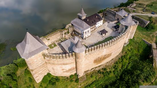 The Khotyn Fortress, Ukraine from above, photo 1