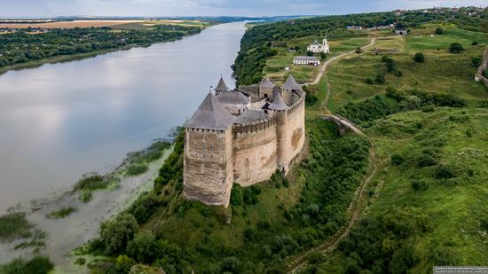 The Khotyn Fortress, Ukraine from above, photo 13