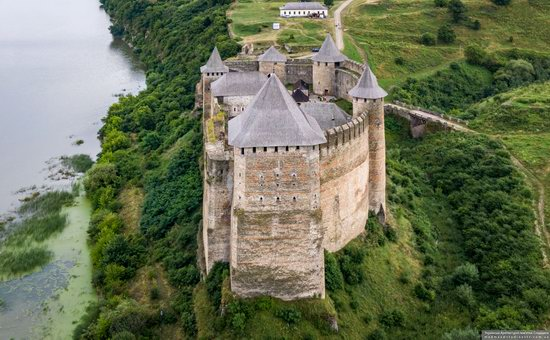 The Khotyn Fortress, Ukraine from above, photo 14