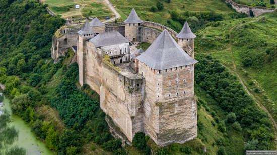 The Khotyn Fortress, Ukraine from above, photo 15