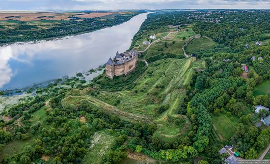 The Khotyn Fortress, Ukraine from above, photo 3