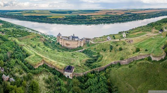 The Khotyn Fortress, Ukraine from above, photo 4