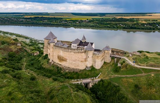 The Khotyn Fortress, Ukraine from above, photo 6